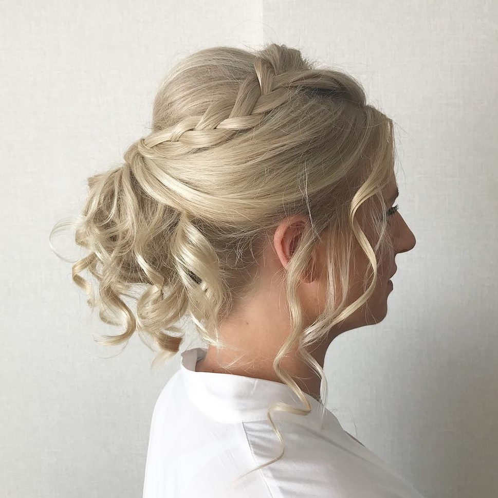 Bridal Updo with a Bouffant and Braid