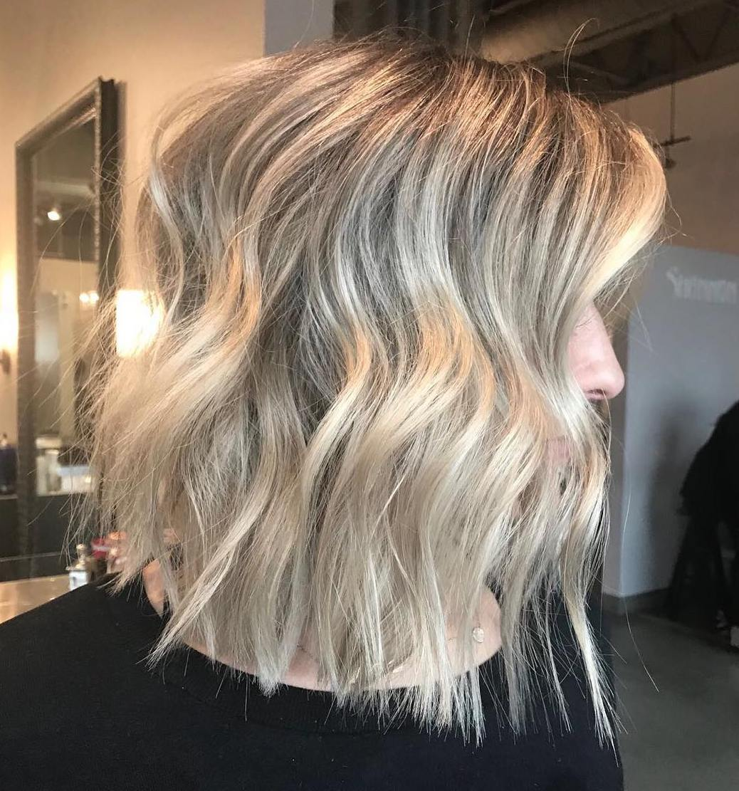 Disconnected Wavy Bob Hairstyle