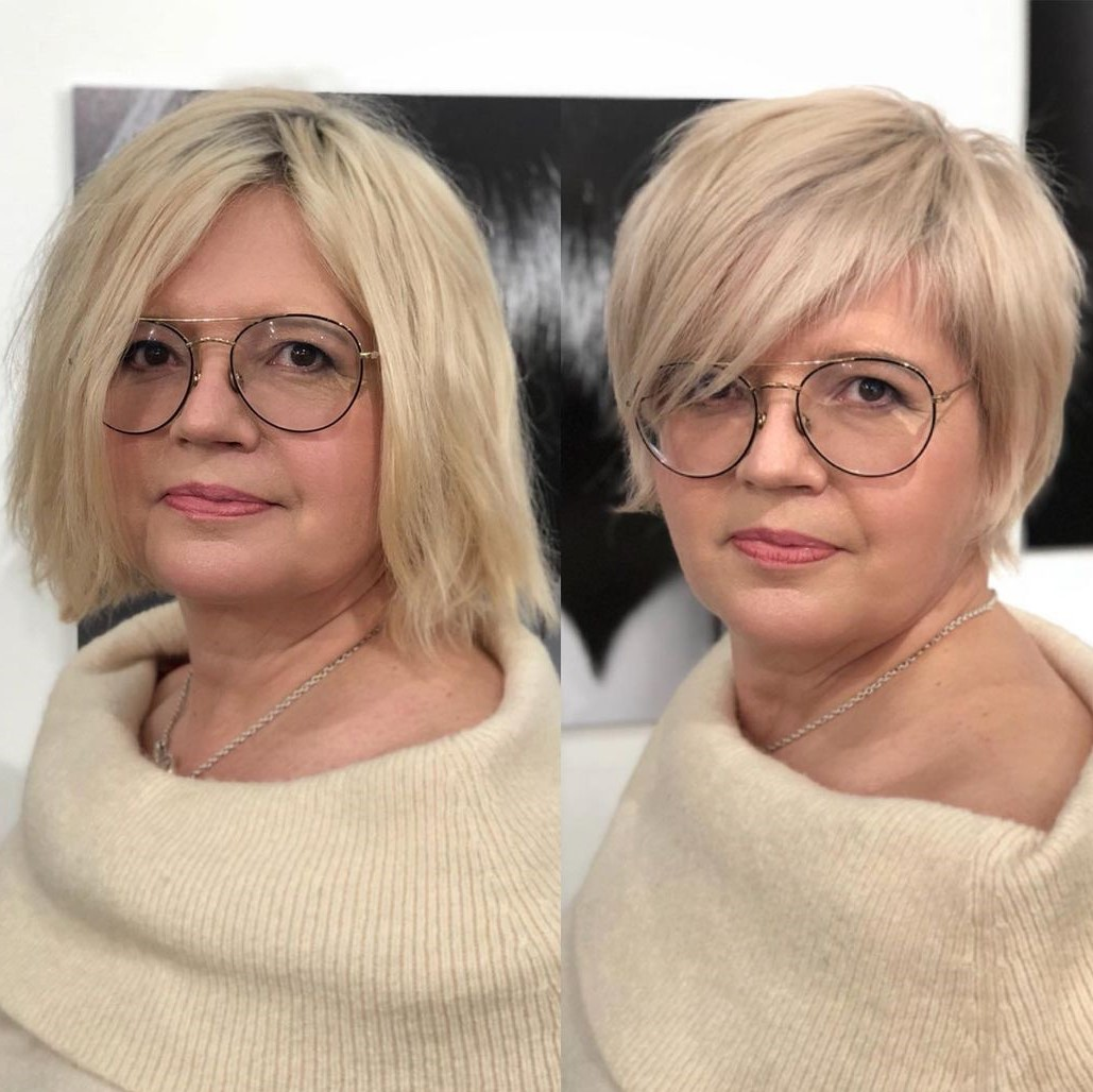 Short Haircut with Bangs for Square Faces