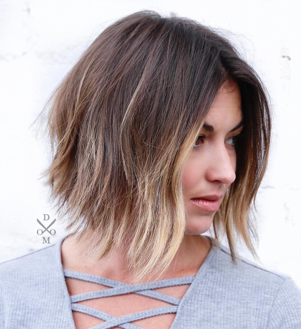 Inverted Bob with Ombre Highlights
