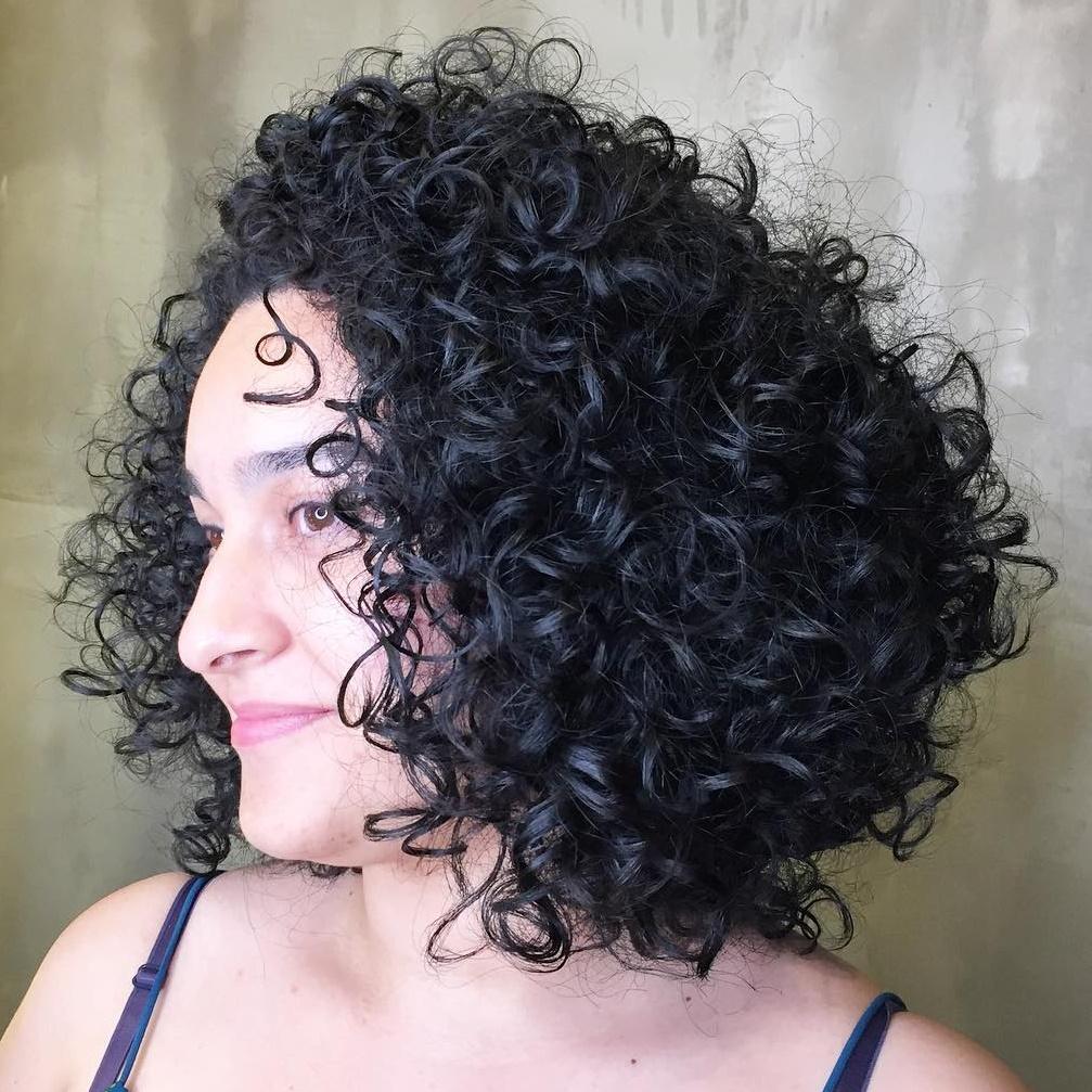 Long Bob for Unruly Curls