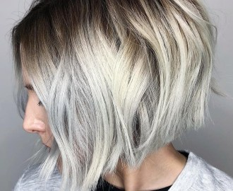 Dramatic High-Contrast Silver Bob