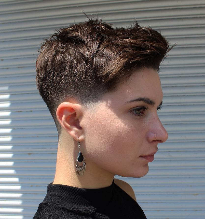 Extra Short Faded Pixie