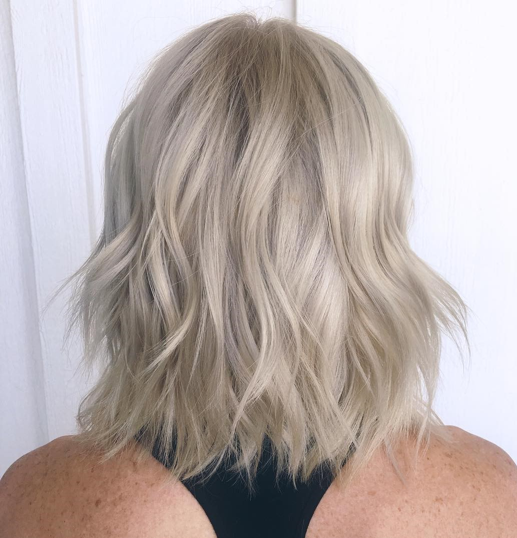 Chic Playful Blonde Wavy Shag