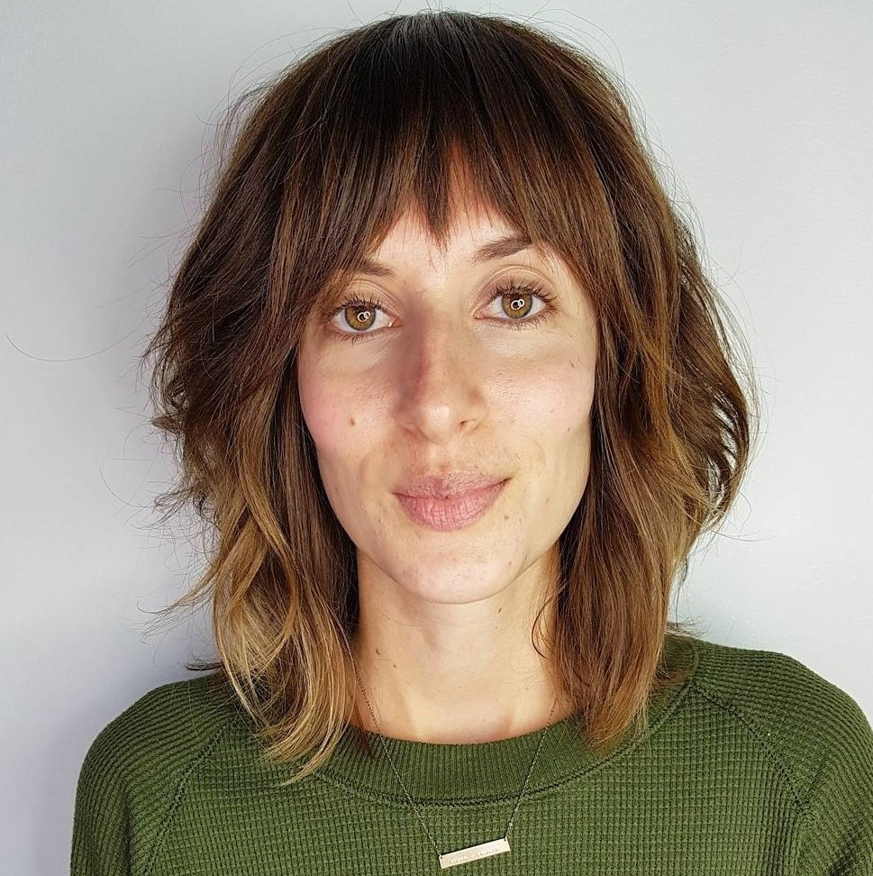 Layered Shag Haircut with a Choppy Fringe