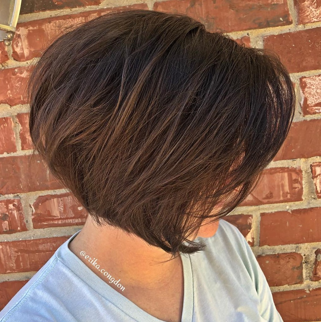 Sliced Angled Bob for Thick Hair