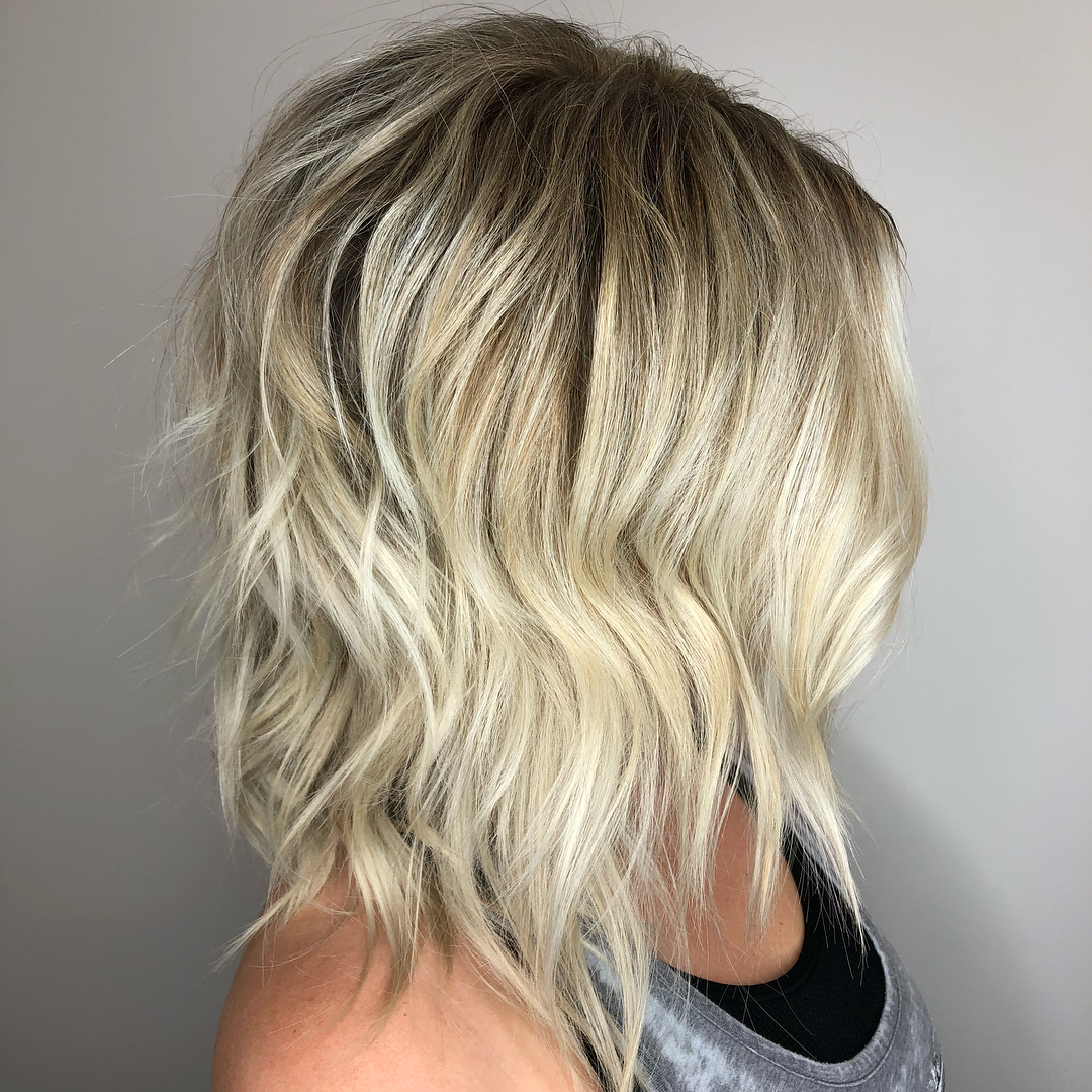 Blonde Shaggy Layered Cut