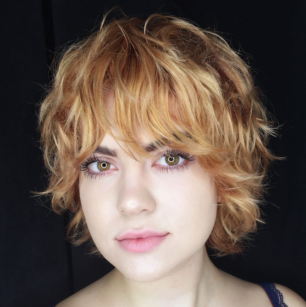 Long Shaggy Curly Pixie