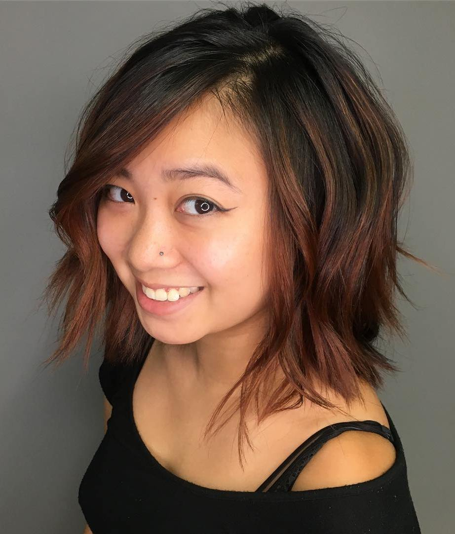Razored Bob with Loose Waves