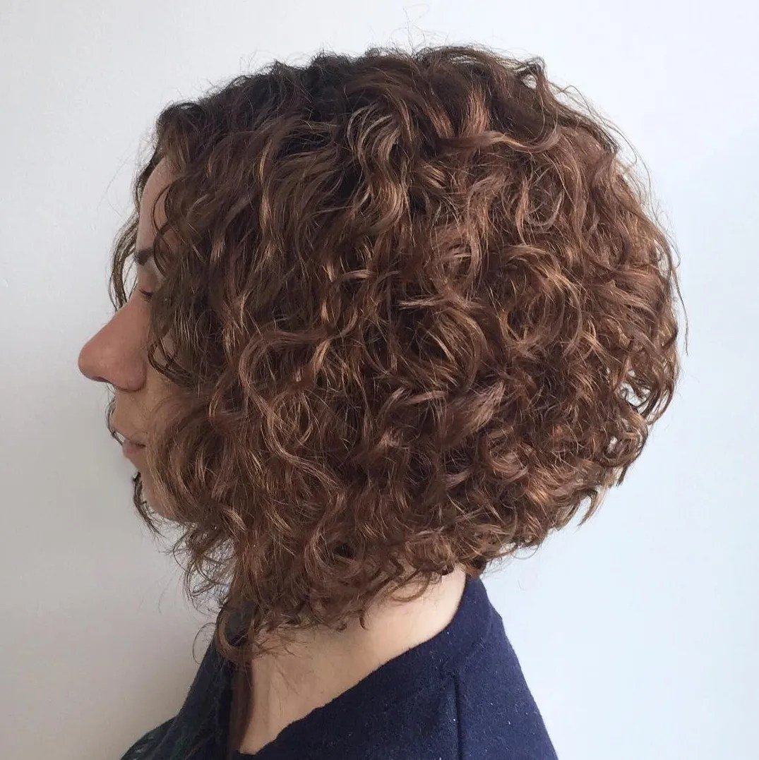 Curly Bob with Stacked Layers