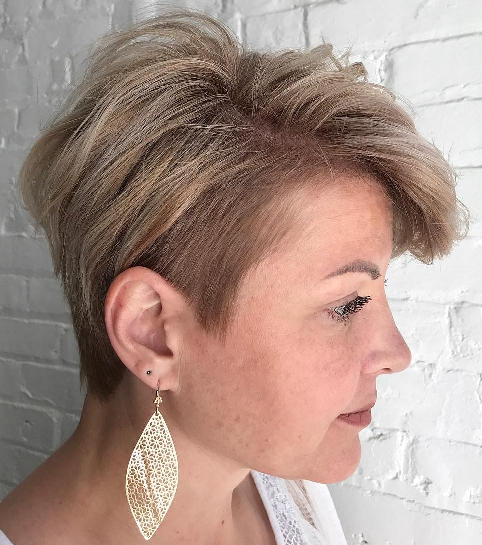 Tapered Caramel Blonde Pixie
