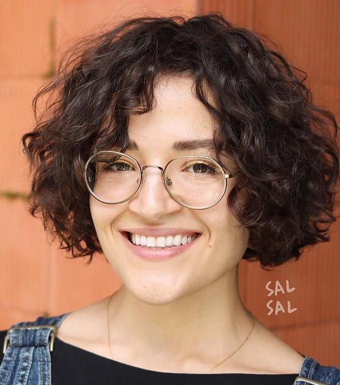 Jaw-Length Bob for Slightly Curly Hair