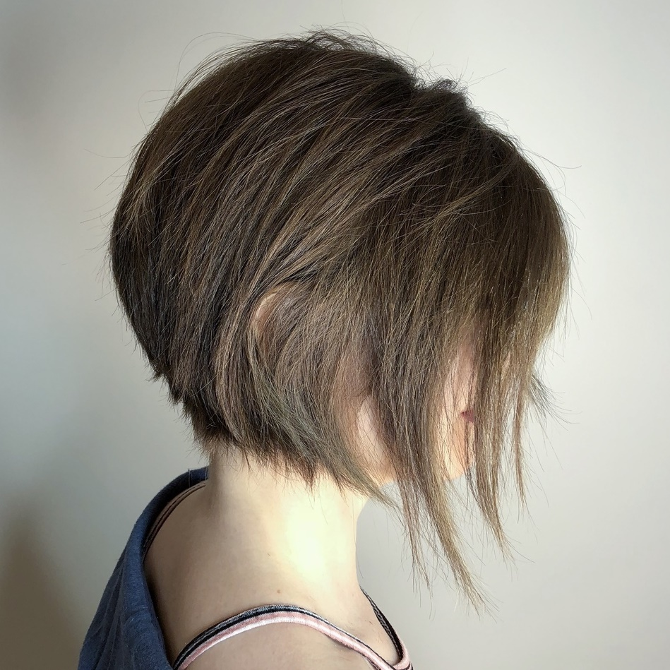 Choppy Bob Cut with Long Front Pieces