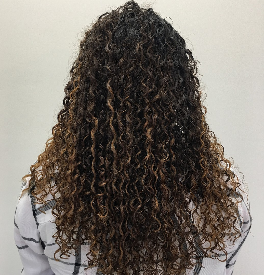 Tight Curls Perm for Long Hair