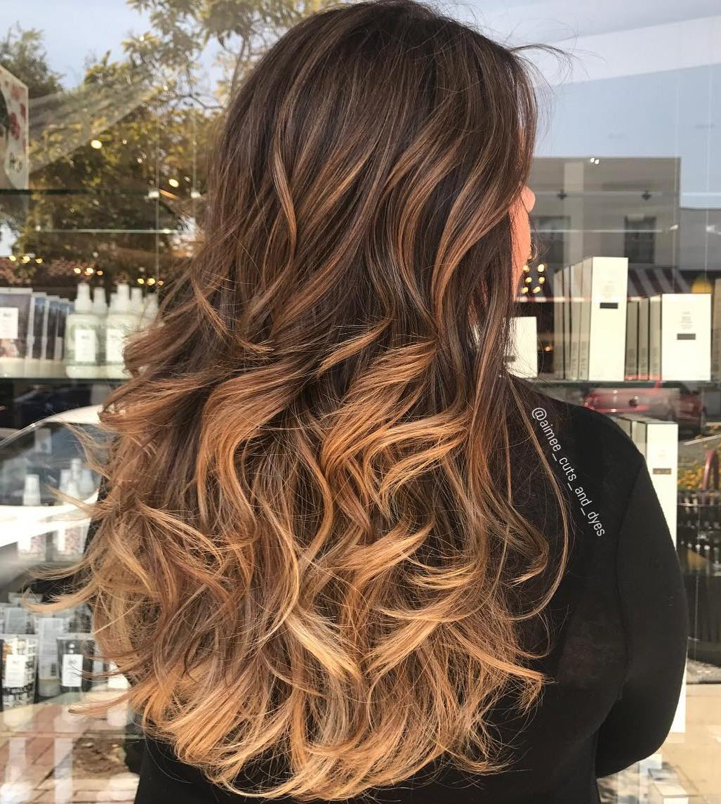 Long Caramel and Golden Waves
