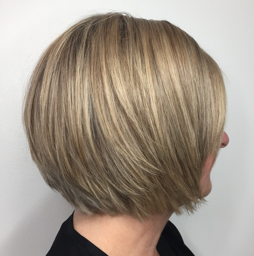 Straight Layered Bob