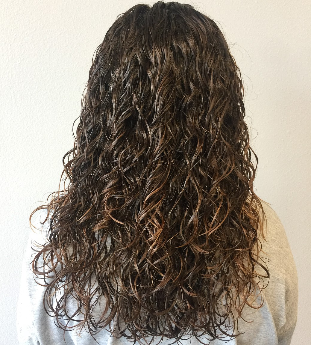 Wet Bouncy Curly Hairstyle for Long Hair