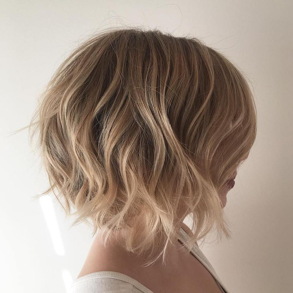 Short Layered Bob with Loose Waves