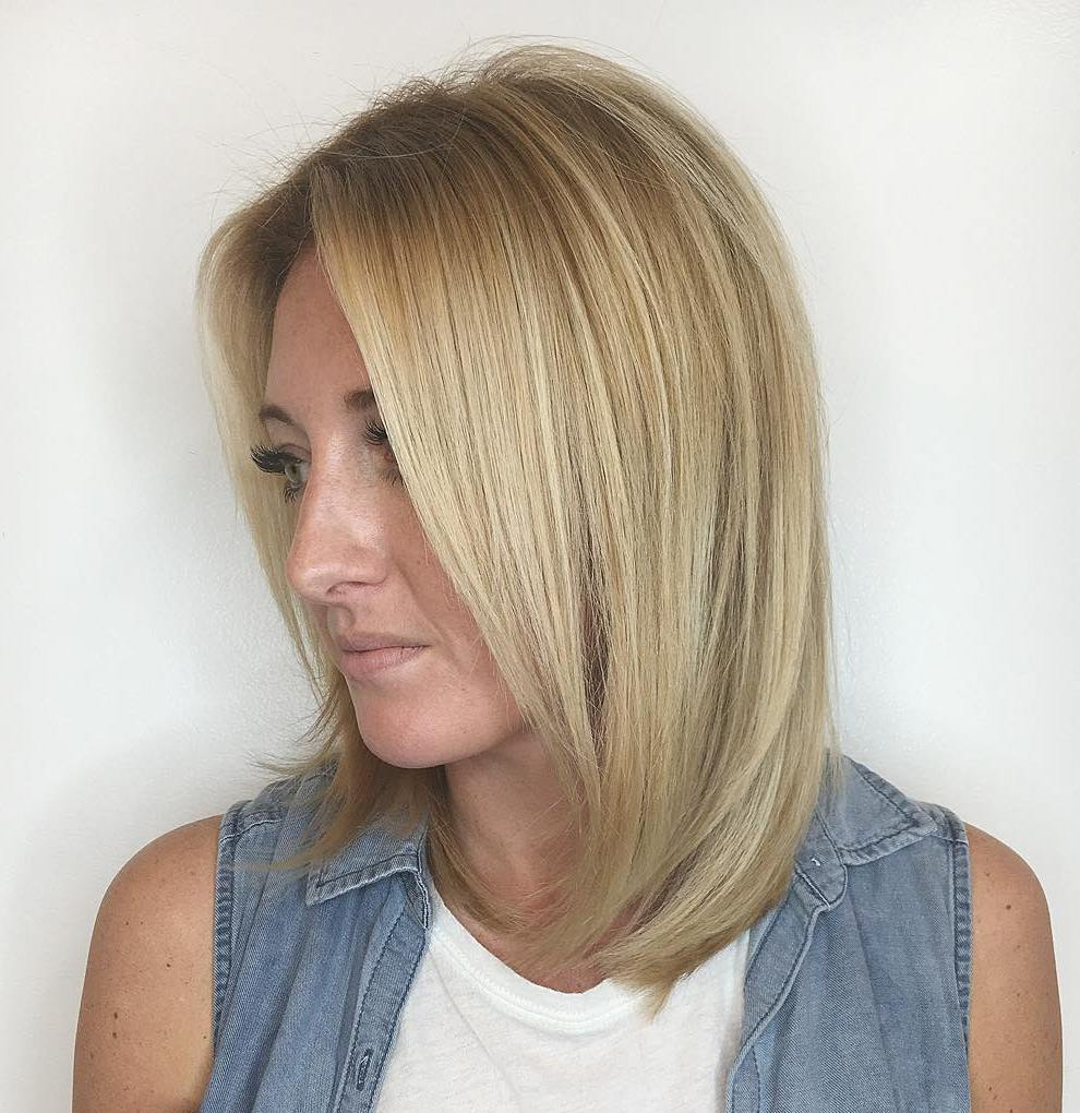 Long Layered Bob with Soft Ends