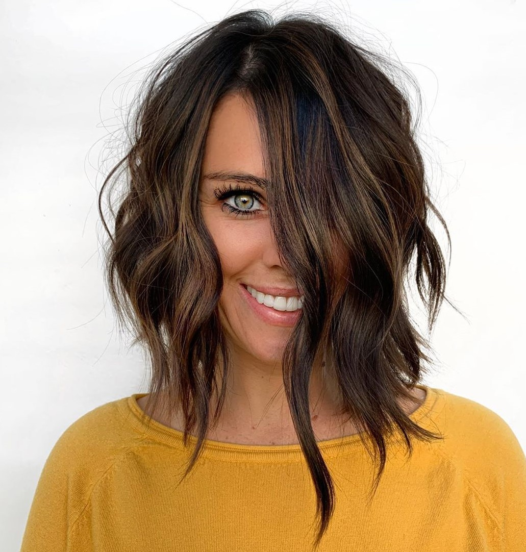 Brunette Hair with Sun-Kissed Babylights