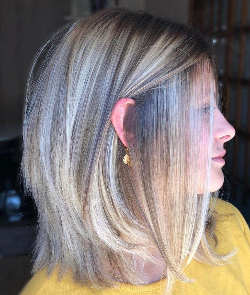 Shoulder-Length Razored Hairstyle