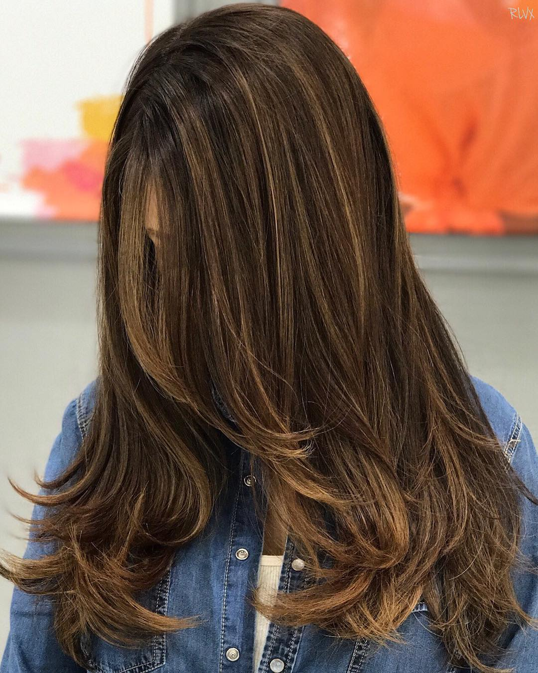 Thin Blonde Highlights for Dark Brown Hair