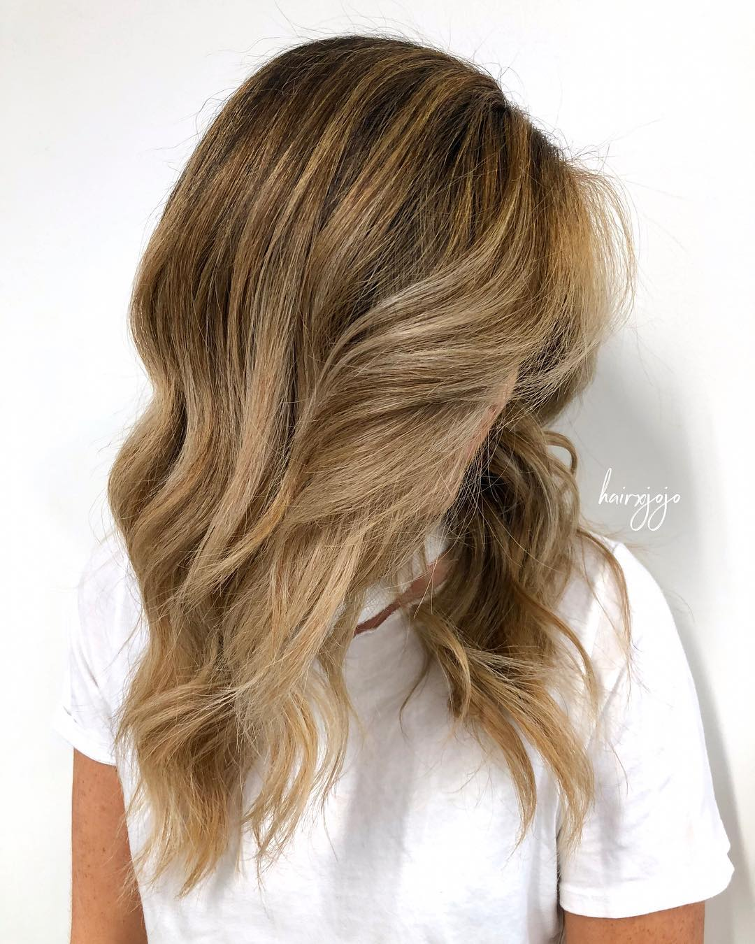 Light Brown Hair with Balayage Highlights