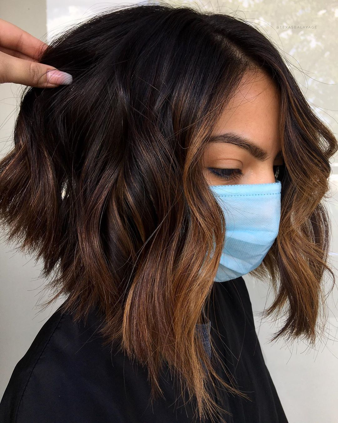 Subtle Caramel Highlights for Short Hair