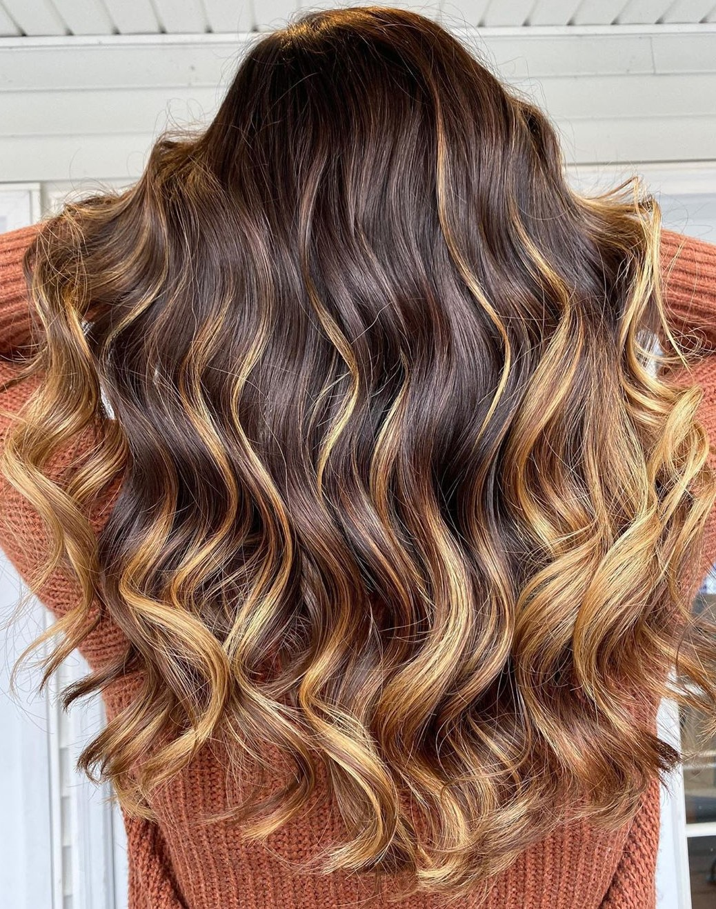 Multi-Tone Caramel Balayage Highlights
