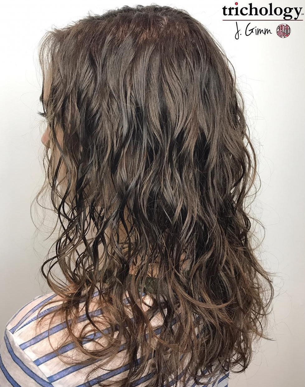 Wavy Perm for Thin Hair