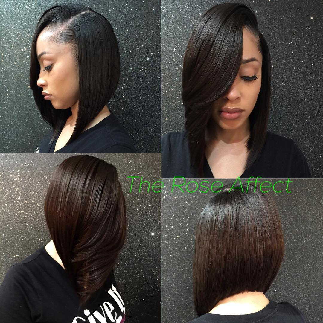Sleek Straight Weave Bob