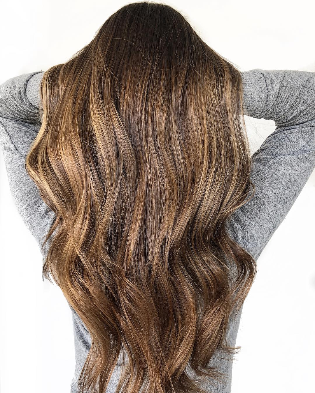Brunette Hair with Walnut Brown Highlights