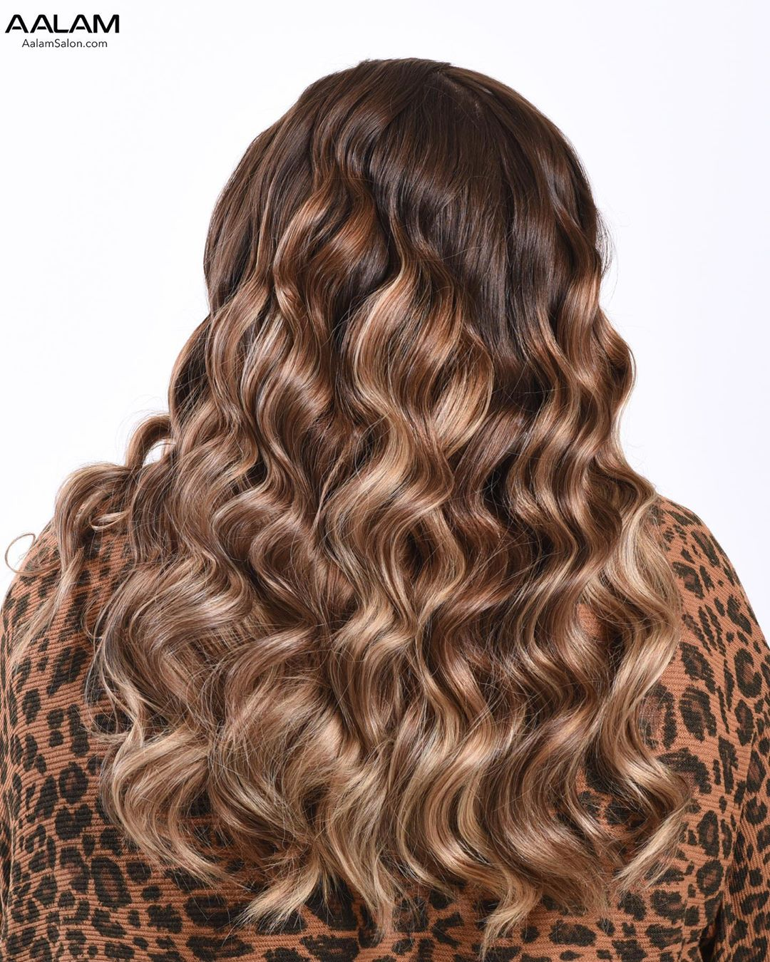 Caramel Brown Hair with Highlights and Lowlights