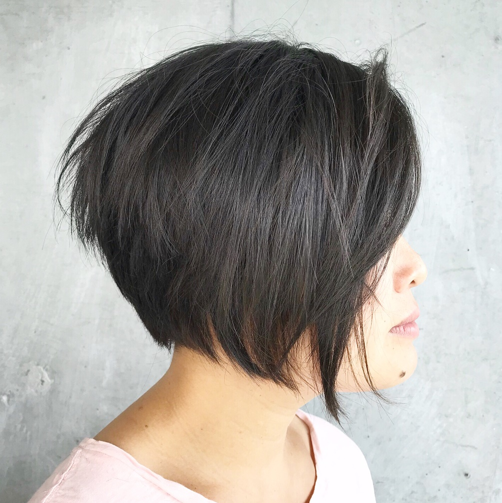 Chin-Length Straight Bob with Layers
