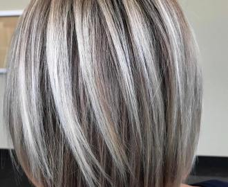Rounded Bob with Chunky Highlights