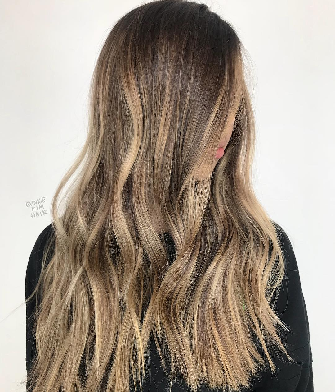 Long Light Brown Balayage Hair