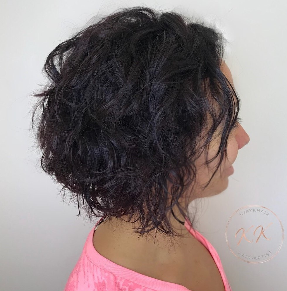 Wavy Perm for Bob Haircut