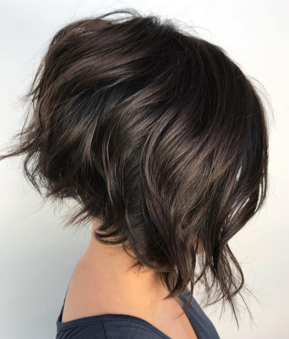 Voluminous Inverted Dark Bob