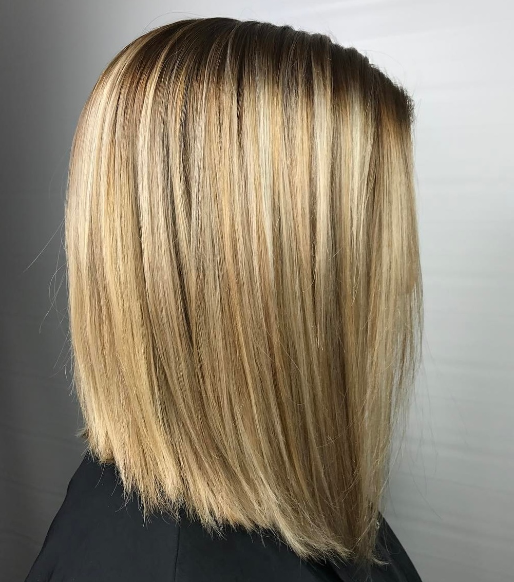 Straight Razored Blonde Lob