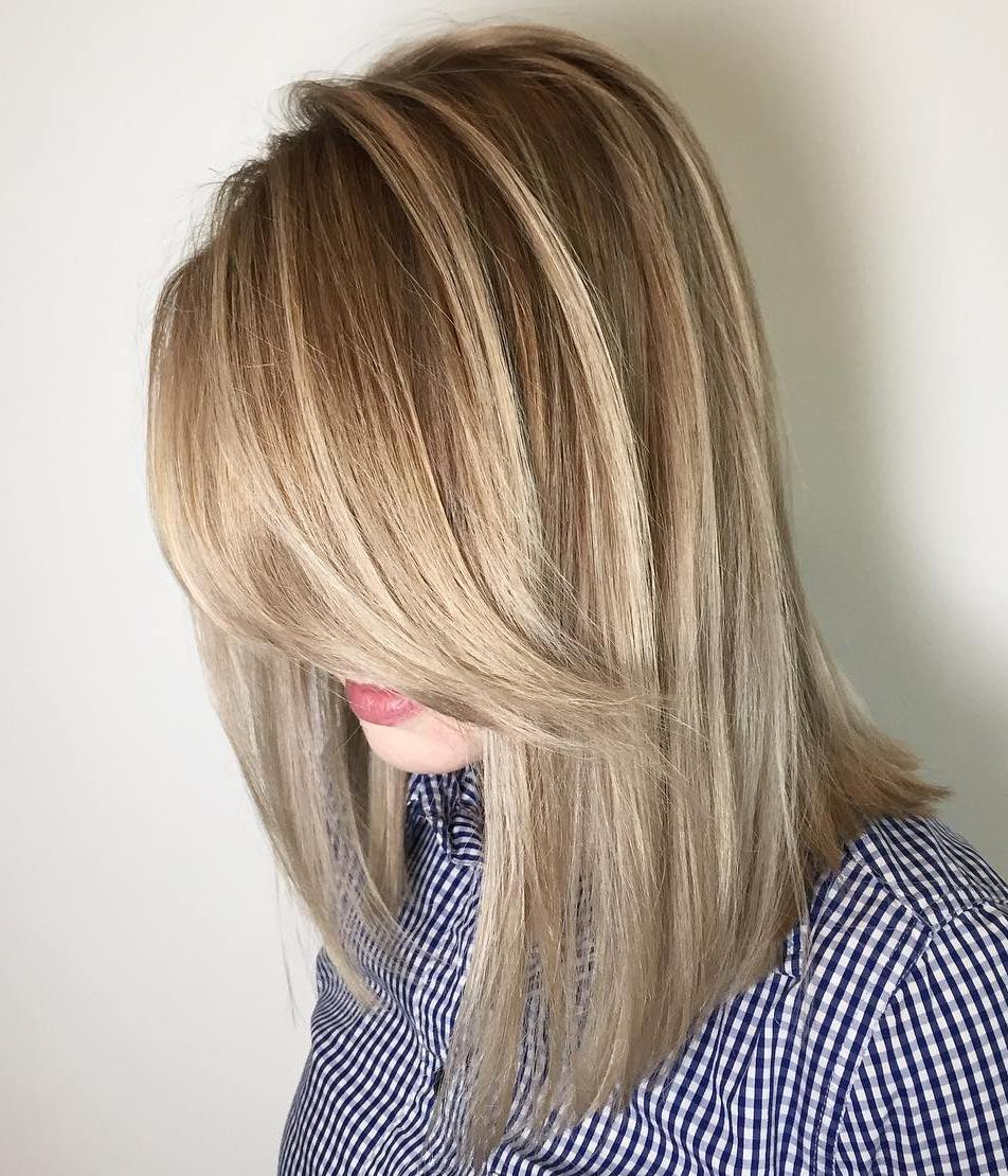Long Blonde Bob with Highlights