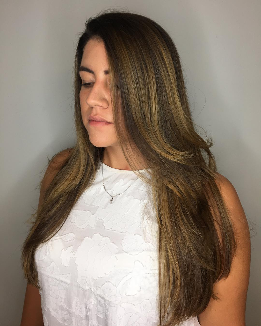 Long Hair with Layers for Long Oval Faces
