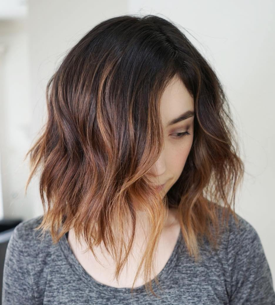 Caramel Highlights for Short Hair