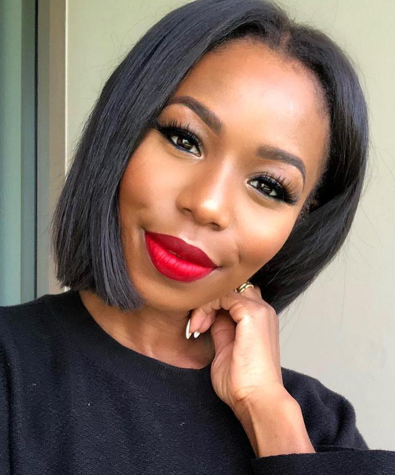 Blunt Black Bob for Women with Thin Hair