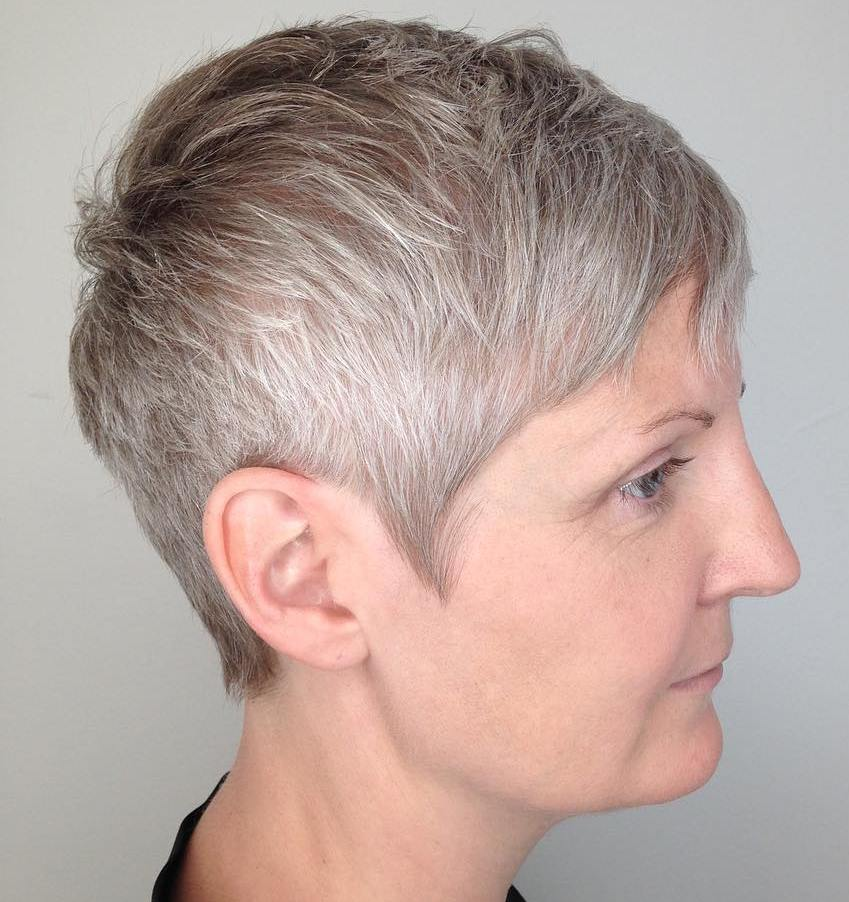 Over 40 Short Silver Pixie
