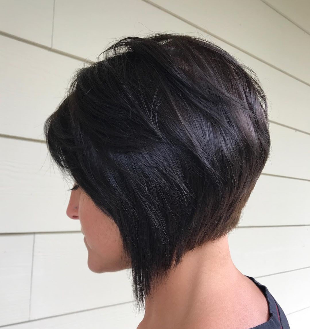 Short Inverted Haircut with Bangs
