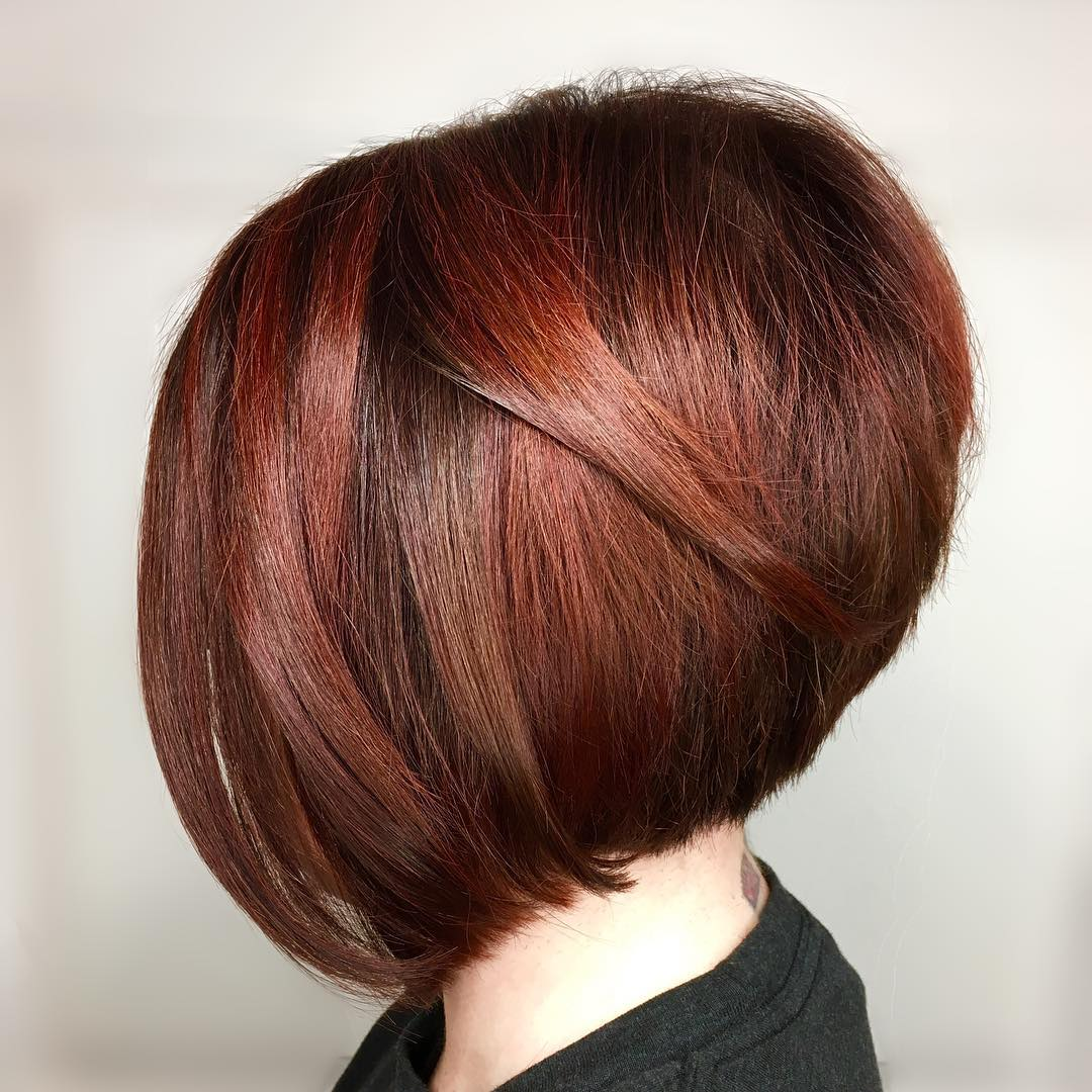 Accurate Stacked Rich Red Bob