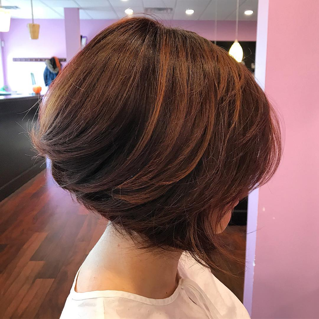 Slightly Angled A-Line Bob