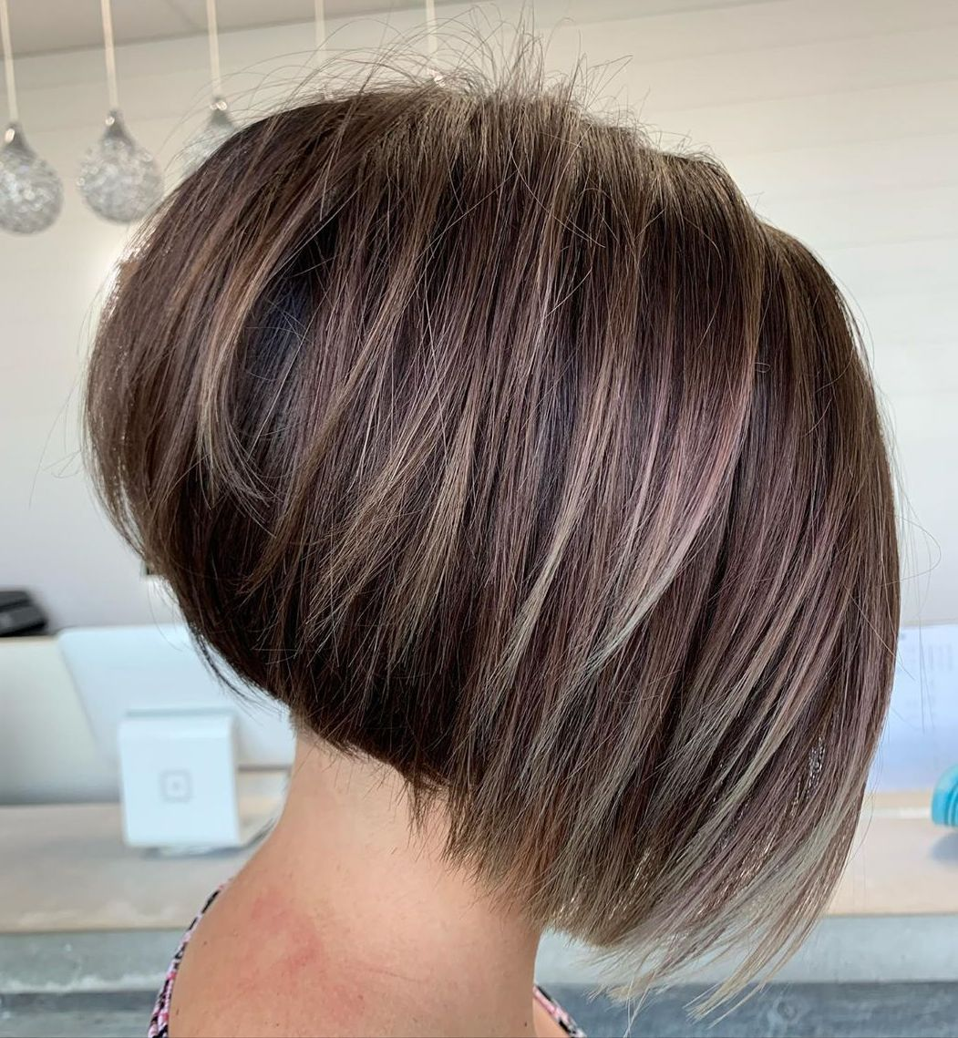 Stacked Inverted Bob for Straight Hair
