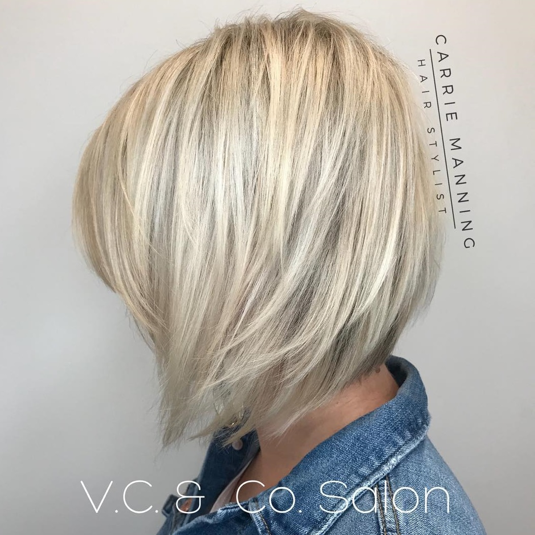Inverted Platinum Bob with Choppy Layers