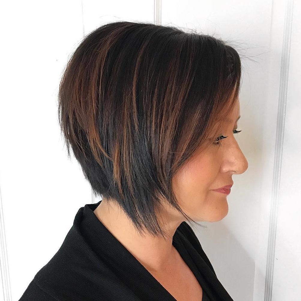 Edgy Bob with Razored Layers